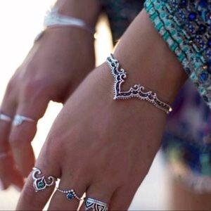 Jewelry - BOHO Silver BRACELET CUFF carved ETHNIC wrist band
